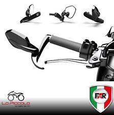 Paire de Rétroviseurs pour Guidon Touche Maj Levier Shield Viper Far Noirs Moto