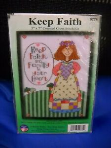 Design Works Counted Cross Stitch Kit - Keep Faith - Unopened