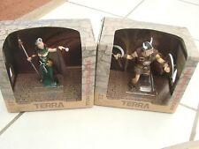 "Action FigureTerra Fantasy 5"" Halldor Raider Viking & Xium Crystal Mage  Battat"