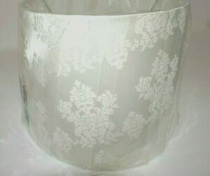 """Brocade Ivory """"Gilded Noel"""" White Lampshade Large 10T x 15 in Dia. x 12' Top Dia"""