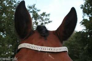 New BLING Designer Look U clear Pearl crystal  Browband Great Gift offer BLACK