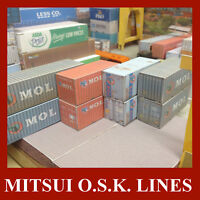 HO 1:87 Model Shipping Containers The MOL Collection 20ft & 40ft x 10 Pre-Weath