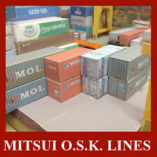 HO Shipping Containers The MOL Collection 20ft & 40ft x 10 Pre-Weath