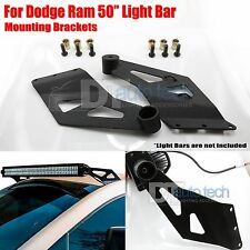 02-08 Dodge 50 Inch Straight LED Light Bar Upper Windshiel Mounting Brackets