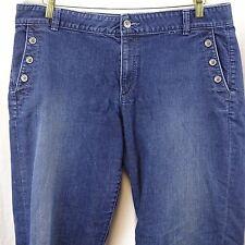 Women's Jeans Size 12 Ann Taylor Loft Blue Three Button Pockets