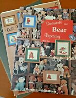 Counted Cross Stitch Patterns Lot of 3 Bears, Two by Two, French Country