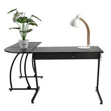 New L-shape Computer Corner Desk Laptop PC Table Home Flat Shape Leg Simple