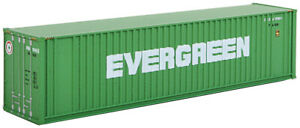 Walthers N Scale 40' Hi-Cube Intermodal Shipping Container Evergreen