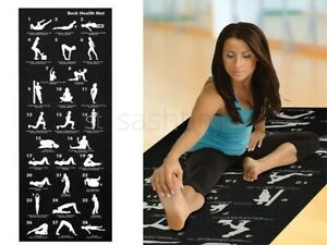 28 Position Excercise Yoga Mat Guide Exercise Fitness Workout Physio Non Slip