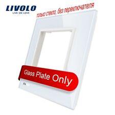 Livolo Luxury White Pearl Crystal Glass, 80mm*80mm, EU standard,