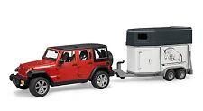 Bruder Jeep Wrangler Unlimited Rubicon mit Pferdeanhänger und 1 Pferd 02926