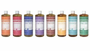 Dr Bronner Castile liquid soap Organic Fair Trade 946ml 32 fl oz 1 litre Vegan
