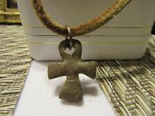 Ankh Religious lightweight Cross pendant w/cord necklace~ FREE SHIPPING!