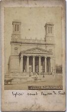 Église Saint-Vincent-de-Paul Cdv Ch. Ségoffin Vintage albumine ca 1860