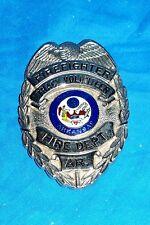 Fireman's Badge Firefighters Fire Dept Department Officer's Blackinton Volunteer