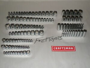 CRAFTSMAN 116pc 1/4 3/8 1/2 Dr SAE& METRIC MM 6pt 12pt ratchet wrench socket set