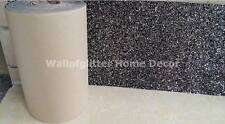 3D Black/Silver Mix Glitter Fabric Self Adhesive Border Wallcovering, Crafts,Etc