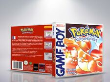 Pokemon Version Rouge - GameBoy - Replacement Cover/Case - NO Game - FR/US