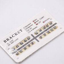 Dental Orthodontic Brackets Braces Metal Mini Roth 022slot 3 Hooks 1set20pcs