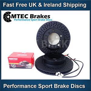 Boxster 2.5 2.7 986 987 Black Edition Front Brake Discs & Pads Sensor Lead