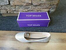 TOP MODA Silver Evelyn Flat Dress Shoes - Women Sz 10M  BRAND NEW IN BOX!