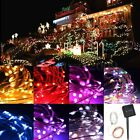 1/2/3/4/5/10M Battery/Solar/12V LED MICRO Silver Copper Wire Fairy String Lights