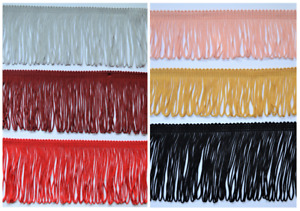 BEAUTIFUL SILKY LOOPED DRESS FRINGE TRIM 8 cm wide - clothing dance curtains