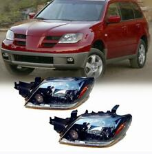 Fit For MITSUBISHI OUTLANDER 2003-2005 Front Head lamp Headlights Assembly 2x