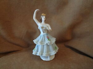 """DRESDEN PORCELAIN LACE BALLERINA FIGURINE - MARKED WITH """"N"""""""