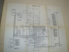 SIMCA REGENCE 1955  GRANDE PLANCHE DU SCHEMA CIRCUIT ELECTRIQUE GENERAL D EPOQUE