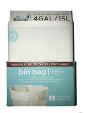 Blue Avocado Reusable Waste Bin Bag WHITE LEAKPROOF Trash Can Liner 4 & 7 Gallon