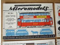 1953 Vintage Micromodels Set TR1 London Metropolitan Tram Cars by Deason 2/6d