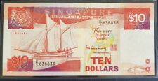 Singapore $10 Ship Banknote With Nice Repeater Number E/7 836836