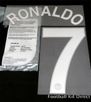 Manchester United Ronaldo 7 2008 Uefa Champions League Football Shirt Name Set
