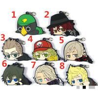 Anime Final Fantasy XV rubber Keychain Key Ring Race Straps cosplay