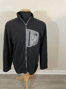 Men's The North Face Chimborazo Black Long Sleeve Fleece Full Zip Jacket XL