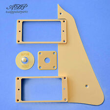 Set CREAM style LES PAUL PICKGUARD,ring: HUMBUCKER TOGGLE JacKPlate, Tip