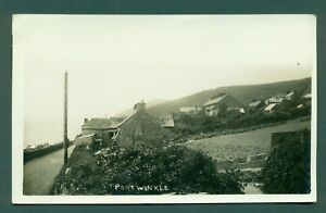 CORNWALL,PORT WINKLE ,vintage postcard