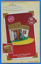 Over the Rainbow Music The Wizard of Oz Magic Farmhouse Hallmark Ornament 2005