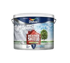 Dulux Weathershield Pure Brilliant White - Exterior Smooth Masonry Paint - 7.5L
