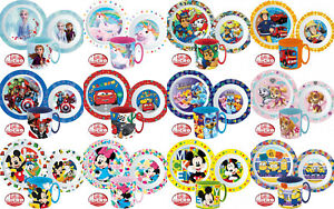 Kinder Geschirr Set Frühstücksset Mikrowelle Teller Schale Becher Disney Patrol