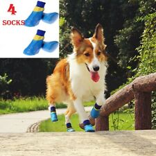 X4 Dog Winter Socks Boots Shoes Non-Slip Soles Adjustable Dog Paw Waterproof X4