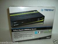 TRENDnet 5-Port Gigabit Ethernet Switch 802.3x Auto-MDIX 1000Mbps TEG-S50g/A NEW