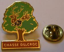 Pins Chasse du Croc Grand Gibier cerf sanglier chevreuil