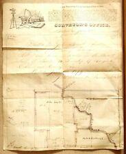 1823 VA MAP Gordonsville Clifton Forge Salem Orange Virginia History ITS BIG