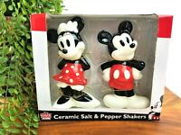 Disney Mickey Mouse and Minnie Mouse Salt and Pepper Shakers Collectible NEW!!