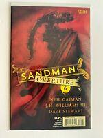 The Sandman Overture #6 B Vertigo/DC Comics 9.8 NM/MT Red Variant Cover