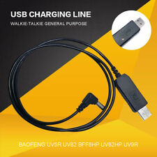 Walkie Talkie USB Charger Cable Cord for Baofeng UV5R UV82 BFF8HP UV82HP UV9R