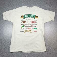 90s Vintage ACCOUNTANT Mens T Shirt XL | Single Stitch Funny Novelty