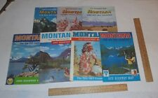 7 Montana Highway Maps The Big Sky Country Fold Out Maps From 1960s